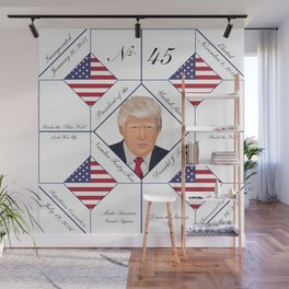 Commemorative Trump 2016 Election Pattern Wall Mural