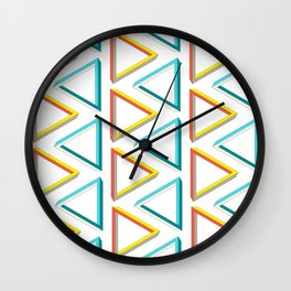 Impossible triangles geeky pattern. Wall Clock