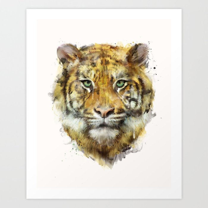 Discover the motif TIGER // STRENGTH by Amy Hamilton as a print at TOPPOSTER