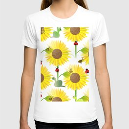 Sunflowers And Bees T-shirt