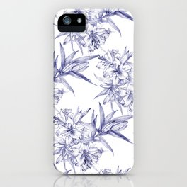 Lilium Speciosum (white) iPhone Case