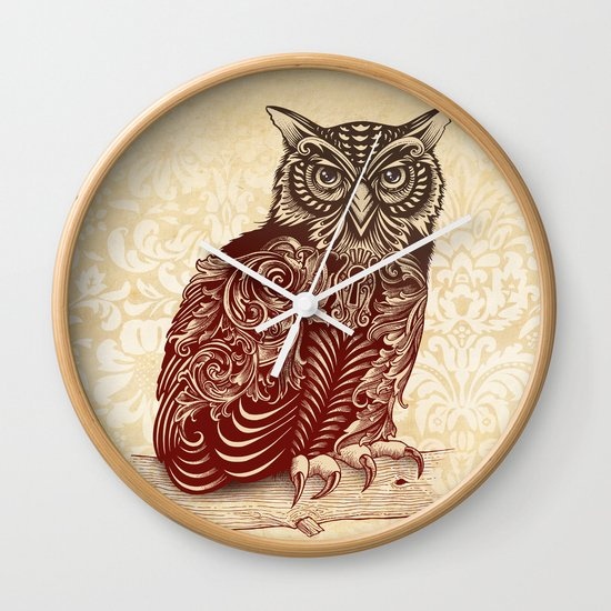 Most Ornate Owl Wall Clock