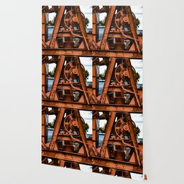 The Old Rusty Ship Crane Wallpaper