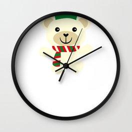 Christmas Penguin Friend Christmas Bear Wall Clock