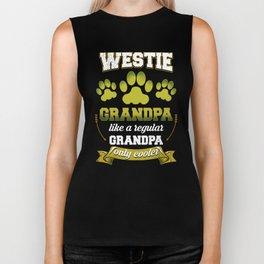 Westie Grandpa Like A Regular Grandpa Only Cooler Biker Tank