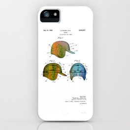 Patent drawing of a Baseball Helmet - Circa 1962 iPhone Case