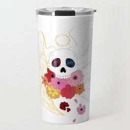 Feathers and Flowers Travel Mug