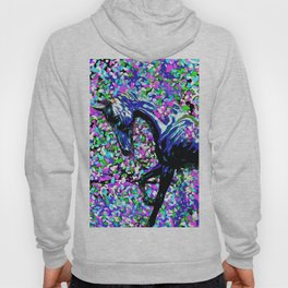 HORSE AND FLOWER PETALS OIL PAINTING Hoody