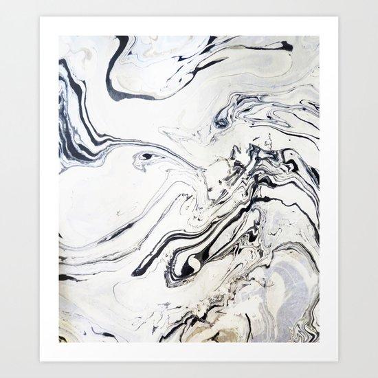 Marble Art V12 #society6 Art Print