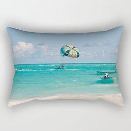 Dreaming of vacation Rectangular Pillow
