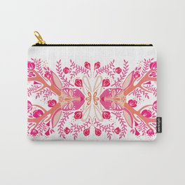 Floral Antlers – Peachy Pink Palette Carry-All Pouch