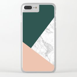 Stylish Marble Clear iPhone Case