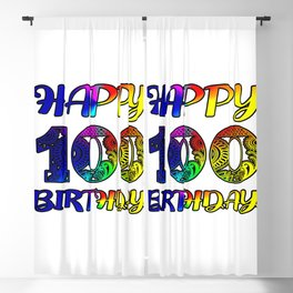 Happy 100th Birthday ,100th day of gift Blackout Curtain