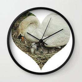 Mother Swan III Wall Clock