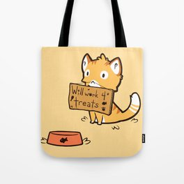 Will Work 4 Treats Tote Bag