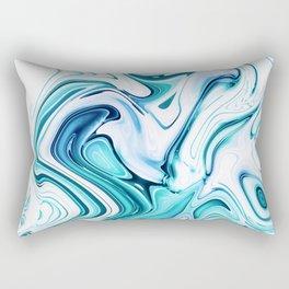 Liquid Marble - aqua & blues Rectangular Pillow