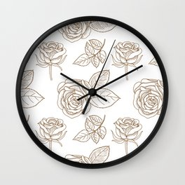 Rose Line Art Neck Gaiter Rose Drawings Neck Gator Wall Clock