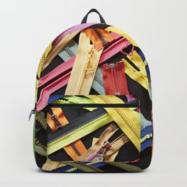 Zippers for clothes on black Backpack