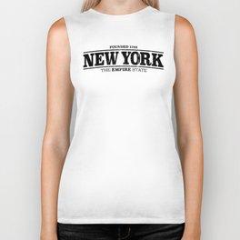 New York City Empire State Slogan Biker Tank
