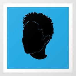 light blue Art Print