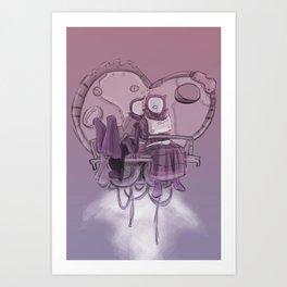 Valentines Junk Rocket Art Print