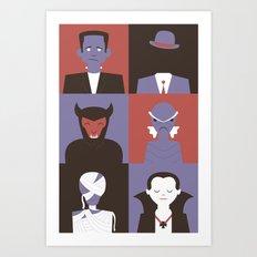 Monster Mash Purple Art Print
