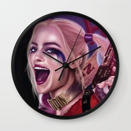 Harley Quinn Comic Book Movie Art - Suicide Squad Fan Art Wall Clock