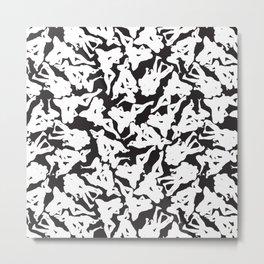 Rorschach Silhouettes Metal Print
