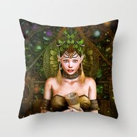 wizard Throw Pillows featuring Wizard by Loveit Designs