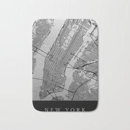 Silver new york map Bath Mat