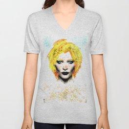 Freckle Face Girl Unisex V-Neck
