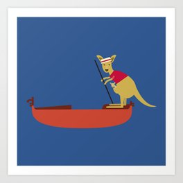 Kangaroo on Gondola Art Print