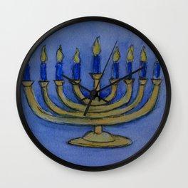 Happy Hanukkah WC161122c Wall Clock