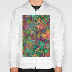 Floral Abstract Stained Glass G176 Hoody