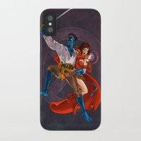 nightcrawler iPhone & iPod Cases featuring Nightcrawler & Scarlet Witch by Studio Acramill