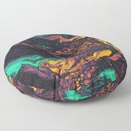 Neon Fluid Floor Pillow