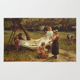Frederick Morgan - The Apple Gatherers Rug