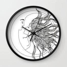 Sun and Moon II Wall Clock