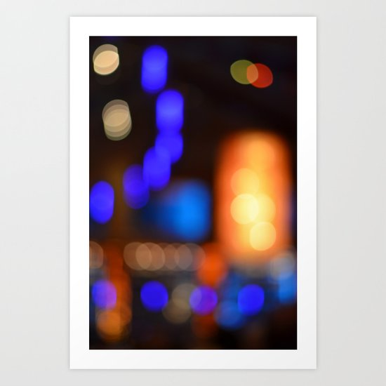 Bokeh Blues! Art Print
