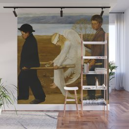 1903 Classical Masterpiece 'The Wounded Angel' by Hugo Simberg Wall Mural