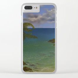 Along the Rocky Coast Clear iPhone Case