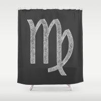 virgo Shower Curtains featuring Virgo by David Zydd