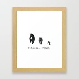 Torschlusspanik Framed Art Print