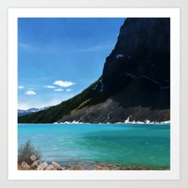 Landscape of Lake Louise Art Print