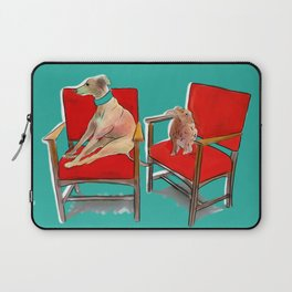 animals in chairs #14 The Greyhound and the Hare Laptop Sleeve