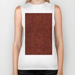 Rusty leather background textured abstract Biker Tank