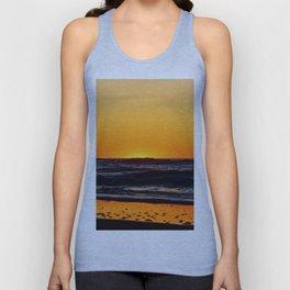 Orange Sunset on the Beach Unisex Tank Top