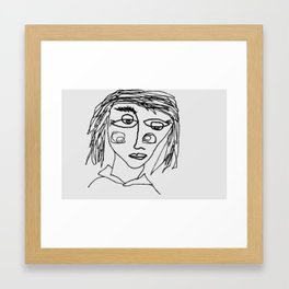 Face Without A Name Framed Art Print