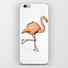 Flamingo on ice iPhone & iPod Skin