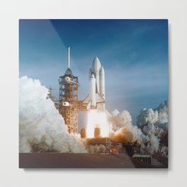 First Space Shuttle Launch Metal Print